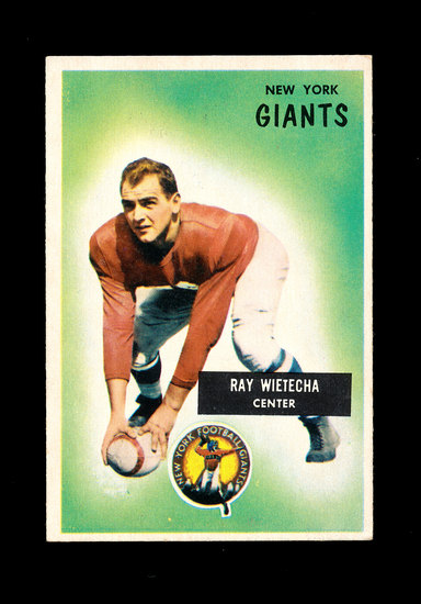 1955 Bowman Football Card #24 Ray Weitecha New York Giants.