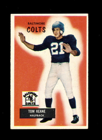 1955 Bowman Football Card #30 Tom Keane Baltimore Colts.