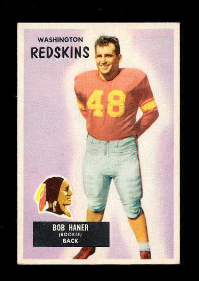 1955 Bowman Football Card #34 Robert Haner Washington Redskins.