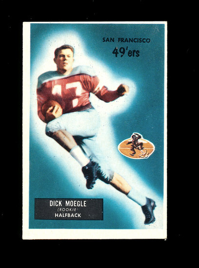 1955 Bowman Football Card #48 Dick Moegle San Francisco 49ers.