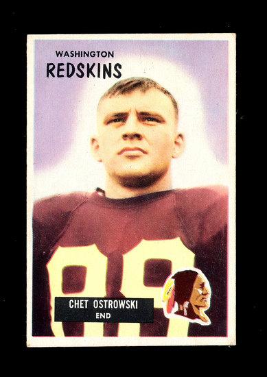 1955 Bowman Football Card #64 Chester Ostrowski Washington Redskins.