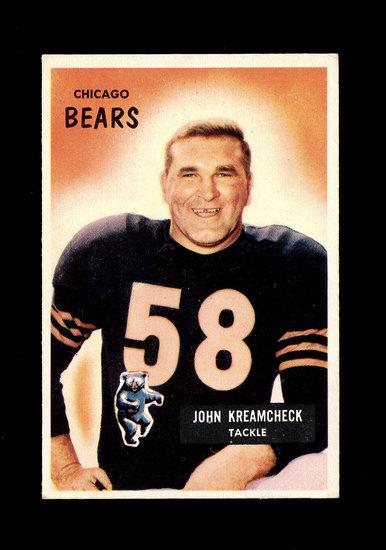 1955 Bowman Football Card #76 John Kreamcheck Chicago Bears.