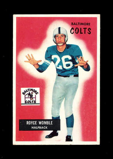 1955 Bowman Football Card #118 Royce Womble Baltimore Colts.