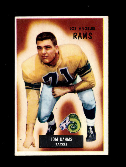 1955 Bowman Football Card #69 Tom Dahms Los Angeles Rams. Has a Wrong Back