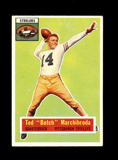 "1956 Topps Football Card #51 Ted ""Butch"" Marchibroda Pittsburgh Steelers."