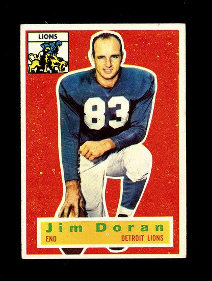 1956 Topps Football Card #80 James Doran Detroit Lions.