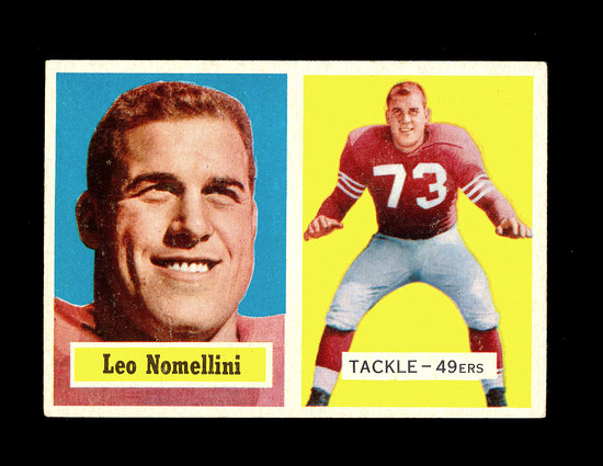 1957 Topps Football Card #6 Hall of Famer Leo Nomellini San Francisco 49ers