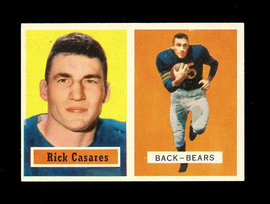 1957 Topps Football Card #55 Rick Casares Chicago Bears.