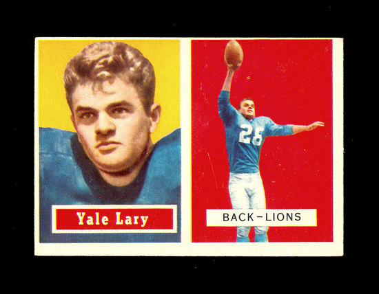 1957 Topps ROOKIE Football Card #68 Rookie Hall of Famer Yale Detroit Lions