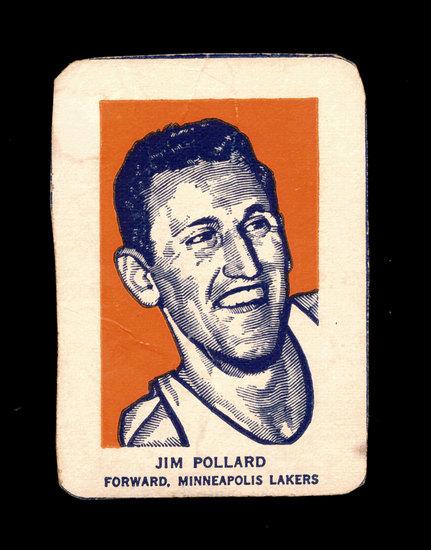 1952 Wheaties Cereal Hand Cut Sports Card Hall of Famer Jim Pollard Minneap