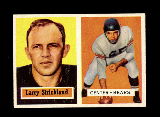 1957 Topps Football Card #105 Larry Strickland Chicago Bears.