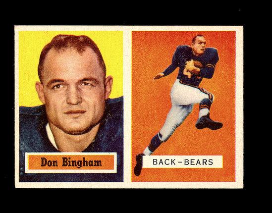 1957 Topps Football Card #117 Don Bingham Chicago Bears.