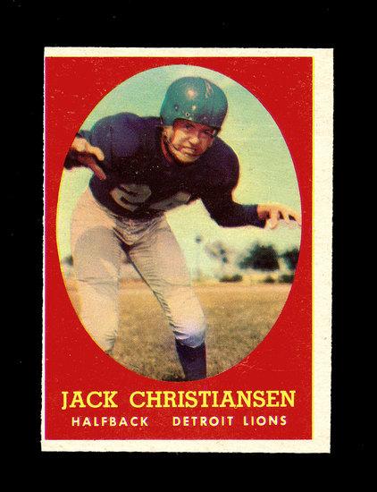 1958 Topps Football Cards #70 Hall of Famer Jack Christiansen Detroit Lions