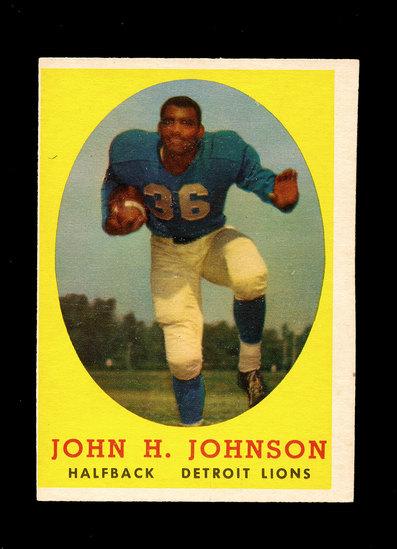 1958 Topps Football Cards #75 Hall of Famer John Johnson Detroit Lions.
