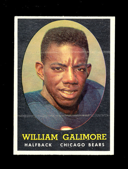 1958 Topps ROOKIE Football Cards #114 Rookie Bill Galmore Chicago Bears.