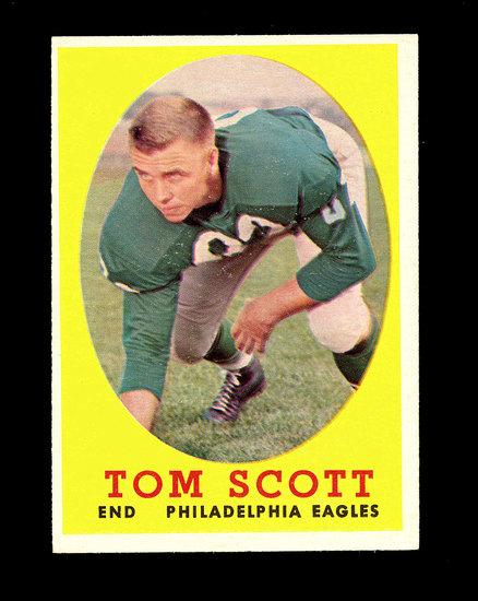 1958 Topps Football Cards #125 Tom Scott Philadelphia Eagles.