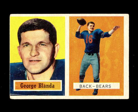 1957 Topps Football Card #31 Hall of Famer George Blanda Chicago Bears.