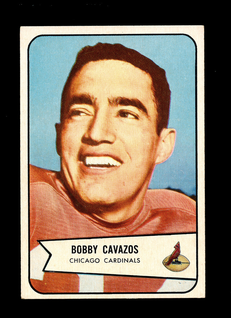 1954 Bowman Football Card #36 Bobby Cavazos Chicago Cardinals.