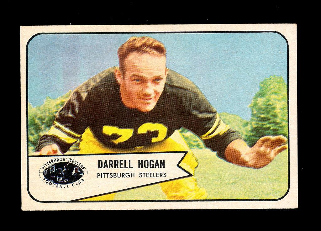 1954 Bowman Football Card #37 Darrell Hogan Pittsburgh Steelers.