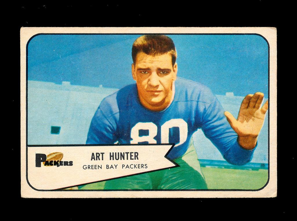 1954 Bowman Football Card #58 Art Hunter Green Bay Packers.