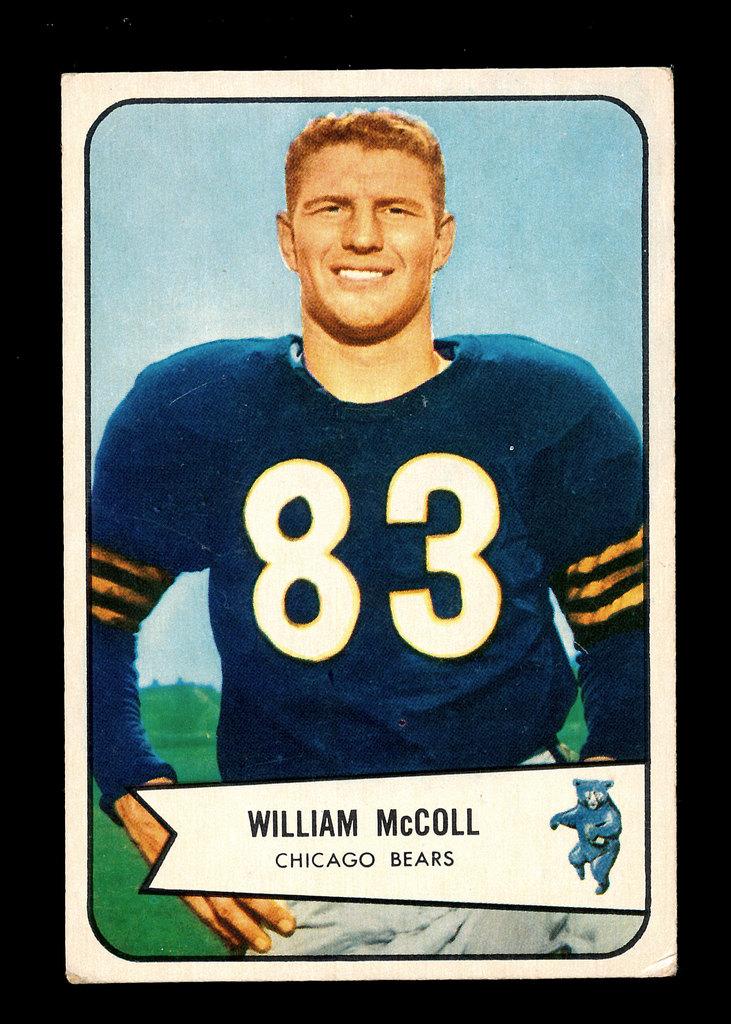 1954 Bowman Football Card #59 William McColl Chicago Bears.