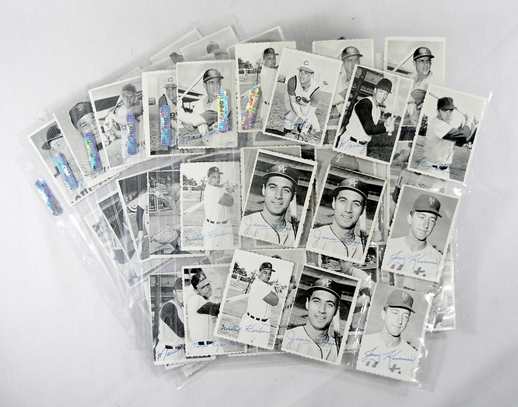 (63) 1969 Deckle Edge Baseball Cards. Some Low Grade, Some Creases, Some Du