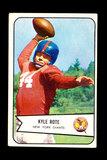 1954 Bowman Football Card #7 Kyle Rote New York Giants.