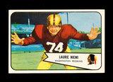 1954 Bowman Football Card #63 Lazurie Niemi Washington Redskins.