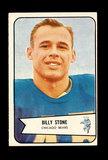 1954 Bowman Football Card #106 Billy Stone Chicago Bears.