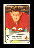 1954 Bowman Football Card #107 Jerry Watford Chicago Cardinals.