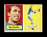 1957 Topps ROOKIE Football Card #23 Rookie Don Chandler New York Giants.