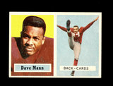 1957 Topps Football Card #50 Dave Mann Chicago Cardinals.