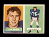 1957 Topps Football Card #53 Alan Ameche Baltimore Colts.