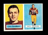 1957 Topps Football Card #98 Joe Scudero Washington Redskins.