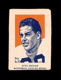 1952 Wheaties Cereal Hand Cut Sports Card Hall of Famer Otto Graham Clevela