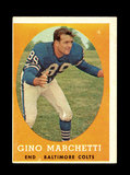 1958 Topps Football Cards #16 Hall of Famer Gino Marchetti Baltimore Colts.