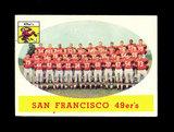 1958 Topps Football Cards #41 San Francisco 49ers Team Card