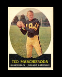 1958 Topps Football Cards #44 Ted Marchibroda Chicago Bears.