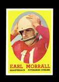 1958 Topps Football Cards #57 Earl Morall Pittsburgh Steelers.