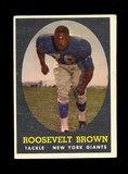 1958 Topps Football Cards #102 Hall of Famer Roosevelt Brown New York Giant