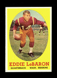 1958 Topps Football Cards #112 Eddie LeBaron Washington Redskins.