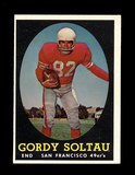 1958 Topps Football Cards #130 Gordi Soltau San Francisco 49ers.