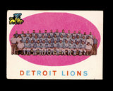 1959 Topps Football Card #3 Detroit Lions Team/Checklist First Series 1-88.