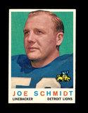 1959 Topps Football Card #6 Hall of Famer Joe Schmidt Detroit Lions.