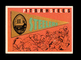 1959 Topps Football Card #9 Pittsburgh Steelers Pennant Card.