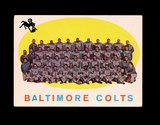 1959 Topps Football Card #17 Baltimore Colts Team/Checklist First Series 1-