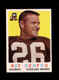 1959 Topps Football Card #37 Ray Renfro Cleveland Browns.