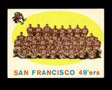 1959 Topps Football Card #61 San Francisco 49ers Team/Checklist Second Seri