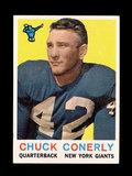 1959 Topps Football Card #65 Charlie Conerly New York Giants.
