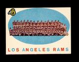 1959 Topps Football Card #76 Los Angeles Rams Gteam/Checklist Second Series